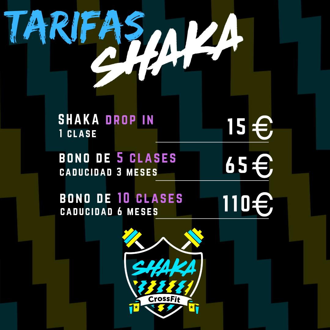 Shaka CrossFit Madrid tarifas bono